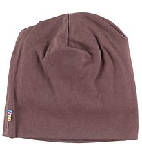 Joha Beanie - Double Layer - Wool - Plum