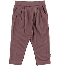 Joha Trousers - Wool - Plum
