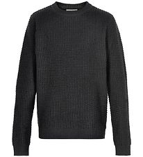 Cost:Bart Jumper - Wool/Viscose - Knitted - Kave - Black