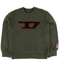 Diesel Sweatshirt - SDivision - Army Green w. Embroidery