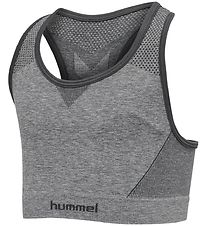Hummel Sports Top - HMLAva Seamless - Grey Melange