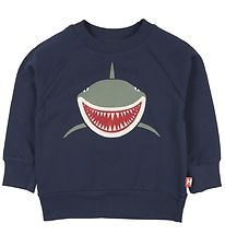 DYR Sweatshirt - Bellow - Navy w. Shark