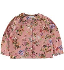 Christina Rohde Blouse - Dark Pink w. Flowers