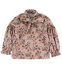 Christina Rohde Blouse - Pink w. Flowers