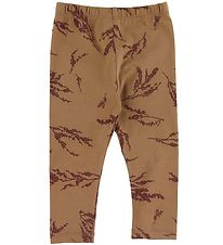 Gro Leggings - Malak - Tobacco w. Flowers