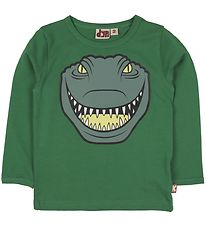 DYR Long Sleeve Top - Roar T - Green w. Crocodile