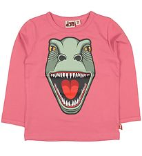 DYR Long Sleeve Top - Roar T - Pink w. Dinosaur