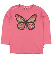 DYR Long Sleeve Top - Critter - Pink w. Butterfly