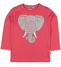 DYR Long Sleeve Top - Snarl - Pink w. Elephant