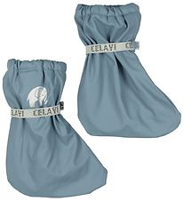 CeLaVi Outdoor Footies w. Fleece - PU - Smoke Blue