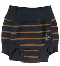Wheat Swim Diapers - Midnight Blue w. Stripes