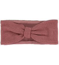 Racing Kids Headband - Wool/Cotton - Bordeaux - Rose