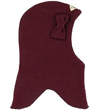 Racing Kids Balaclava - Wool/Cotton - Double Layer - Bordeaux w.