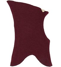Racing Kids Balaclava - Wool/Cotton - Double Layer - Bordeaux