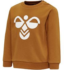 Hummel Sweatshirt - HMLLemon - Brown w. Logo