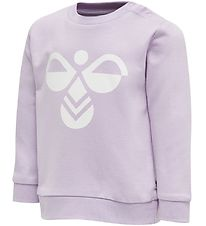 Hummel Sweatshirt - HMLLemon - Purple w. Logo