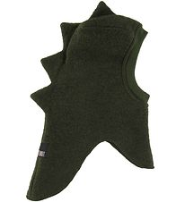 Huttelihut Balaclava - Wool/Cotton - Double Layer - Dark Green D