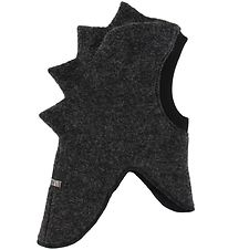 Huttelihut Balaclava - Wool/Cotton - Double Layer - Charcoal Din