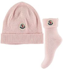 Moncler Gift Box - Hat/Socks - Wool/Cotton - Rose