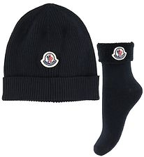 Moncler Gift Box - Hat/Socks - Wool/Cotton - Navy