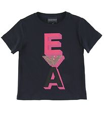 Emporio Armani T-shirt - Navy w. Pink/Gold