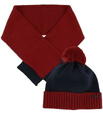 Emporio Armani Gift Box - Hat/Scarf - Wool - Red/Navy