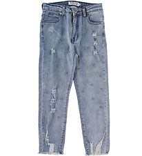 Hound Jeans - Mom - Blue w. Pearls
