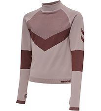 Hummel Long Sleeve Top - HMLKith - Cropped - Rose/Bordeaux