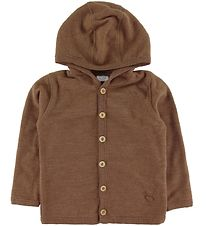 Hust and Claire Cardigan - Ebba - Wool - Brown