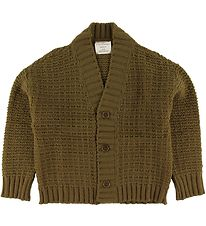 Gro Cardigan - Jytte - Wool - Pine Brown