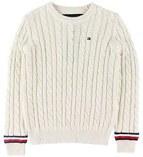 Tommy Hilfiger Blouse - Knitted - Essential - Ivory