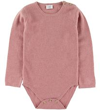 Hust and Claire Bodysuit l/s - Wool - Rose