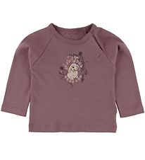 Fixoni Long Sleeve Top - Rose Taupe w. Rabbit