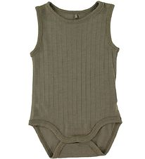 Soft Gallery Bodysuit Sleeveless - Grady - Wool - Green