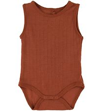 Soft Gallery Bodysuit Sleeveless - Grady - Wool - Burnt Brick