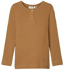 Name It Long Sleeve Top - Noos - NmmKabille - Rib - Medal Bronze