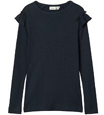 Name It Long Sleeve Top - NkfKabex - Rib - Dark Sapphire