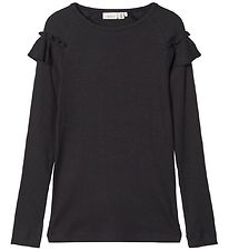 Name It Long Sleeve Top - NkfKabex - Rib - Black