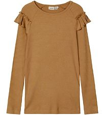 Name It Long Sleeve Top - Noos - NmfKabex - Rib - Medal Bronze