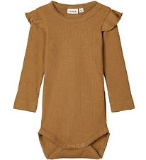 Name It Bodysuit L/S - NbfKabex - Rib - Medal Bronze