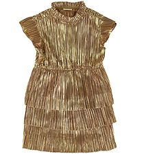 En Fant Dress - Champagne Beige/Gold