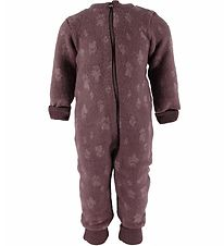 Joha Pramsuit - Baby Wool - Purple w. Paws
