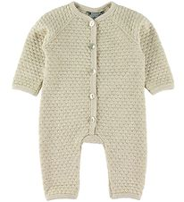 Smallstuff Jumpsuit - Wool - Offwhite/Gold