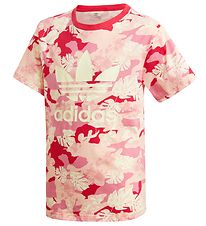 adidas Originals T-shirt - Pink w. Flowers
