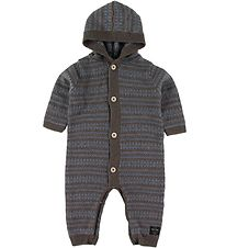Mini A Ture Jumpsuit - Wool - Alver - Brown Melange/Blue