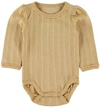Mini A Ture Bodysuit l/s - Akeleje - Sweet Curry w. Pointelle
