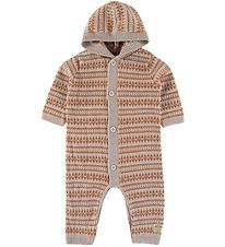 Mini A Ture Jumpsuit - Wool - Elves - Light Brown/Burned Orange