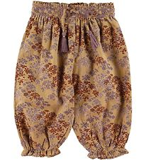 Mini A Ture Corduroy Trousers - Adjele - Sweet Curry w. Flowers