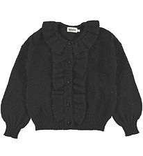 Molo Cardigan - Knit - Gracie - Black w. Glitter