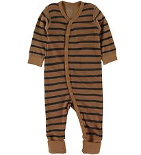 Hust and Claire Nightsuit - Wool/Bamboo - Manu - Rust w. Stripes